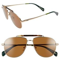 adce39e9609 TOMS  Booker  58mm Aviator Sunglasses (470 PEN) ❤ liked on Polyvore  featuring accessories