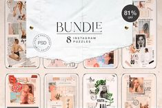 BUNDLE - 8 Instagram Puzzles by Marie T on @creativemarket