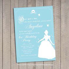 Cinderella Invitation / Cinderella Birthday by DreamyDuck on Etsy                                                                                                                                                                                 More