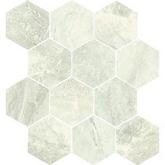 Anthology - Ivory Hexagon Mosaic Tile Hexagon Mosaic Tile, Stone Tiles, Bathroom Accessories, Tile Floor, Porcelain, Ivory, Flooring, Ceramics, Crafts