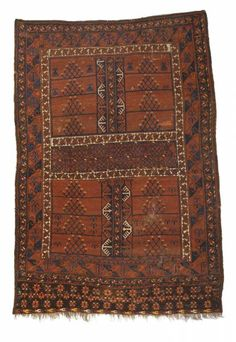 Turkmen-Ersari-engsi second half of the 19th century, senneh-knot, damaged, incomplete 193*132 cm