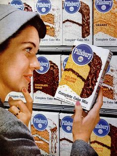 #cake #food #ad #mix #baking #vintage #retro #1950s #fifties