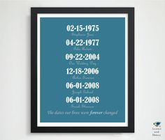 Present for Parents // Anniversary Present // by LEAVESandHONEY, $22.00