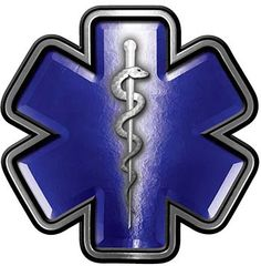 Star of Life Emergency Response EMS EMT Paramedic Decal in Blue