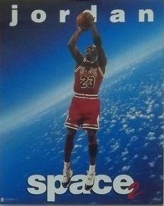 Michael Jordan Space 2 Poster 1995