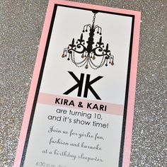 Chandelier Chic Glamour Party Invitation