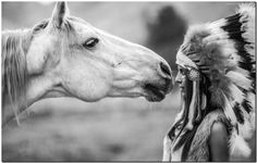 """Native Indian Girl and Horse High Quality Canvas Print Poster 36X24"""" BW"""