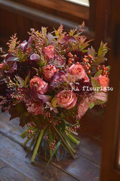 実物たっぷり秋のブーケ : Rieko Ando RA fleuriste blog