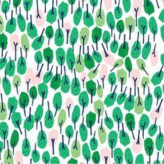 print & pattern ; mushy green tree illustrative