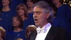 BEST Andrea Bocelli Song EVER! - (HQ Sound) - The Lord's Prayer (better than time to say goodbye), via YouTube.