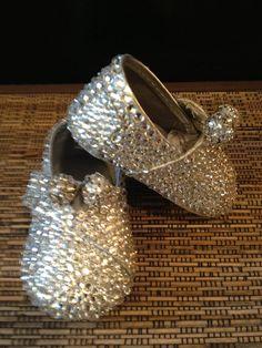 Swarovski Crystal Baby Rae Crib Shoes Wedding by Lalabling 5cbb887beb