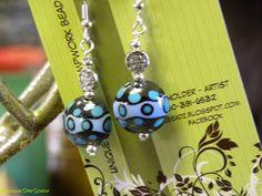 Lampwork beaded earings by Kimz Beads