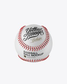 Baseball Ball Mockup - High-Angle Shot (Preview)