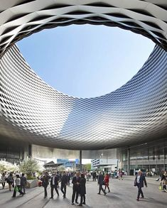 Messe Basel New Hall by Herzog & de Meuron photographed by Hufton + Crow