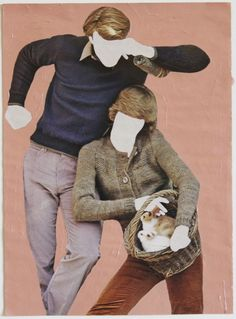 Robert Otto Epstein - Two Bunnies, 11 x in. acrylic enamel paint and pencil on magazine paper. Enamel Paint, Mixed Media Collage, Photo Manipulation, Alchemy, Art World, Oeuvre D'art, Figurative, Altered Art, Book Design