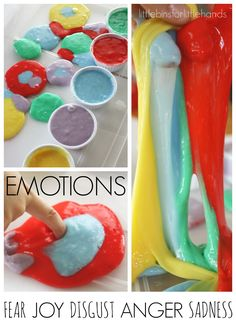 Inside Out Exploring Emotions Activity with Sensory Play