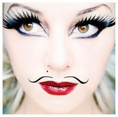There's a new collection of fake lashes at Make Up Forever, maybe we can ask them to sponsor? Makeup Art, Beauty Makeup, Hair Makeup, Doll Makeup, Makeup Ideas, Steam Punk, Circus Makeup, Fake Lashes, Eyelashes