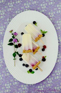 Merengue y frambuesa: Polos de cheesecake