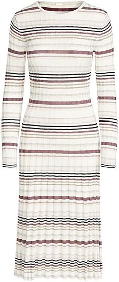 Adam Lippes Women's Stripe Long Sleeve Fitted Dress Cashmere Fabric, Long Sleeve Fitted Dress, Classic Fashion, Classic Looks, Fashion Outfits, Fitness, Casual, How To Wear, Stuff To Buy