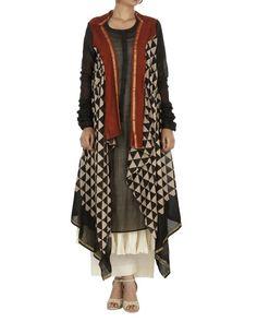 Bagru print drape kurta set | Shop now: www.thesecretlabel.com