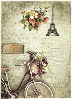 Vintage Paris, Éphémères Vintage, Decoupage Vintage, Journal Vintage, Flower Cart, Shabby, Budget Planer, Art Journal Inspiration, Rice Paper