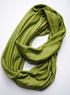 Olive Green  Infinity Scarf by ChickenScratchd on Etsy, $12.00