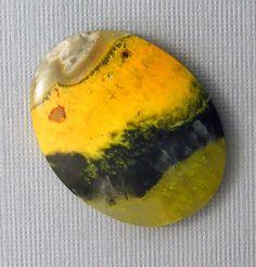 Bumblebee Jasper Cabochon - Hand Cut Designer Freeform Gemstone Cabochon.