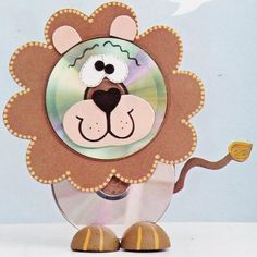 Fun Activities: Old CD Animal Crafts for Kids - Kids Art & Craft Recycled Cd Crafts, Old Cd Crafts, Arts And Crafts, Recycled Glass, Animal Crafts For Kids, Art For Kids, Kids Fun, Cd Recycle, Cd Art