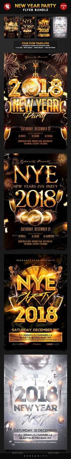 New Year Flyer Bundle Event flyers, Flyer template and Party flyer - party brochure template