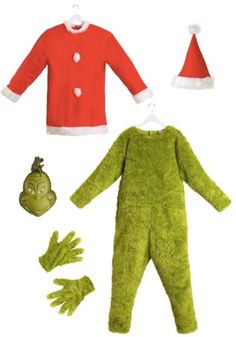 Kids Grinch Costume, Grinch Toys, Grinch Halloween, Grinch Mask, Grinch Santa, Grinch Christmas, Christmas Lights, Halloween Ideas, Christmas Decorations