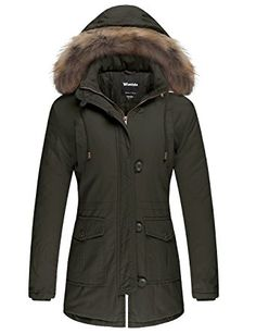 Wantdo Women's Cotton Padded Parka Coat With Removable Fur Hood Review