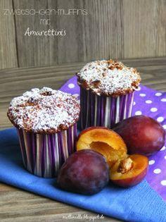 mellimille: Zwetschgen-Muffins mit Amarettinis zum herbstlichen Wochenende