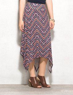 d3e02412ce Chevron Printed Midi Skirt Plus Size Chevron, Plain Tees, Long Maxi Skirts,  Dress