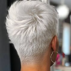 New Short Haircut Trends Women 2019 - The UnderCut Back-View-of-Shor. - - New Short Haircut Trends Women 2019 - The UnderCut Back-View-of-Short-Haircut New Short Haircut Trends Women 2019 New Short Hairstyles, Short Pixie Haircuts, Pixie Hairstyles, Haircut Short, Pixie Haircut Styles, Hairstyle Short, Short Pixie Cuts, Shaved Pixie Cut, Wedge Haircut
