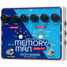 From EHX: For over 30 years, the Deluxe Memory Man has been the industry bottom line for sweet organic delay and modulation. Prized by serious musicians, the DMM became the definition of attitude and