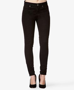 Zippered Skinny Jeans | FOREVER 21 - 2026468940