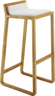Barhocker Eiche & Leder  /bar stool oak & leather