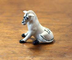 Vintage porcelain animal figurine zebra horse bone china