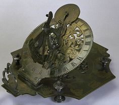 Brass Mechanical equinoctial sundial. Made by Franz Antoni Knitl in Linz, Upper Austria. c.1690-1730. http://collectionsonline.nmsi.ac.uk/detail.php?type=related=1127=objects