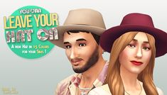 lilsimsie faves — down-in-simsland:   Leave Your Hat On - Casual Hat...
