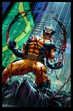 This is how I picture Wolverine in berserker mode. And with his healing factor in tact.