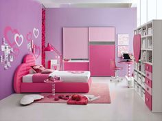 Tips on Selecting a Girls Bedroom Ideas. Posting this time we will bring the theme girls bedroom design. We will give you tips on how to choose the right bedroom colors, beautifully suggesting the bedroom design. Girls Room Paint, Pink Bedroom For Girls, Teen Girl Rooms, Pink Bedrooms, Teenage Girl Bedrooms, Little Girl Rooms, Pink Room, Teen Bedroom, Kids Rooms