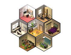 다음 @Behance 프로젝트 확인: \u201cLow Poly rooms\u201d https://www.behance.net/gallery/14591327/Low-Poly-rooms