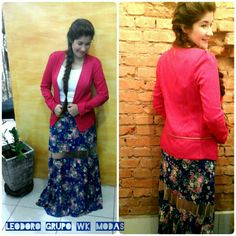 #look lindo#blazer #saia longa #Leodoro grupo Wk Modas #Wk Modas loja 2