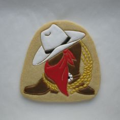 Cowboy Hat, Boots, Rope & Bandanna - Sugar Cookie ~ By ~ Jinnee Parr ~