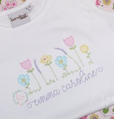 The Classic Applique, Digital applique and embroidery designs Machine Embroidery Quilts, Shirt Embroidery, Applique Embroidery Designs, Free Machine Embroidery Designs, Silk Ribbon Embroidery, Applique Monogram, Machine Applique, Embroidery Jewelry, Baby Girl Embroidery Ideas