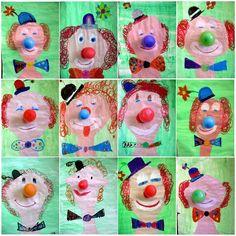 Resultado de imagem para kunst mit kindern grundschule clowns