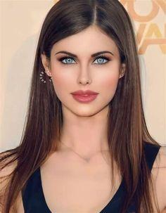 Lovely Eyes, Most Beautiful Faces, Stunning Eyes, Beautiful Long Hair, Beautiful People, Beautiful Women, Brunette Beauty, Hair Beauty, Gal Gadot Wonder Woman