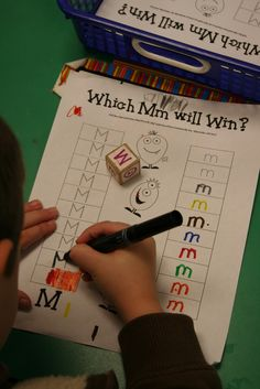 cute game for literacy centers- make one for each letter