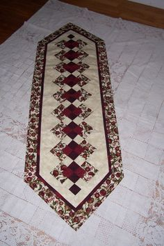 Items similar to Seminole Table Runner on Etsy Quilted Table Runners Christmas, Patchwork Table Runner, Table Runner And Placemats, Table Runner Pattern, Small Quilts, Mini Quilts, Lap Quilts, Quilt Block Patterns, Quilt Blocks
